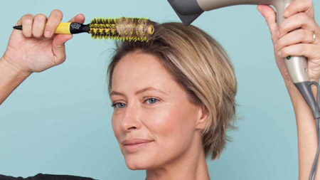 براشینگ موهای کوتاه, سشوار کشیدن موهای کوتاه, آموزش براشینگ موهای کوتاه