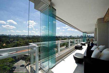 شیشه بالکن, شیشه بالکن چیست, مدل های شیشه بالکن