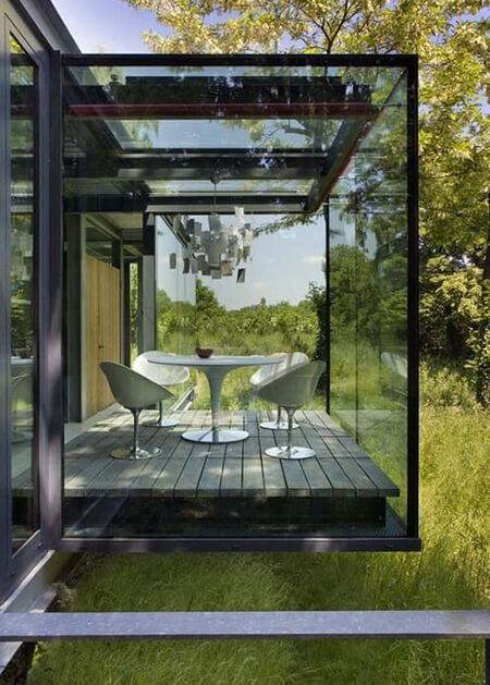 شیشه بالکن تاشو, شیشه بالکن بدون فریم, شیشه بالکن پنجره ای