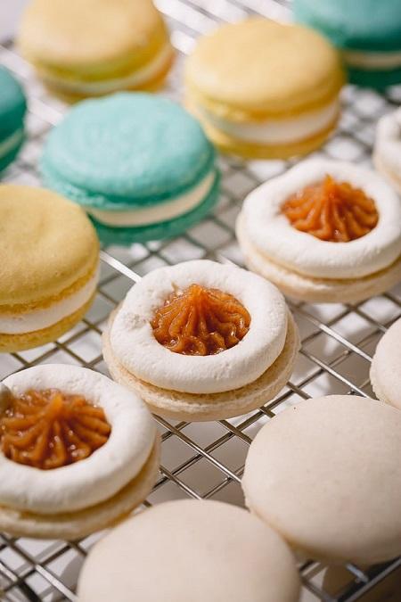 ماکارون فرانسوی , شیرینی ماکارون , طرز تهیه شیرینی ماکارون