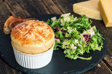 سوفله پنیر و سیب زمینی, سوفله پنیر چدار, طرز تهیه سوفله پنیر فرانسوی