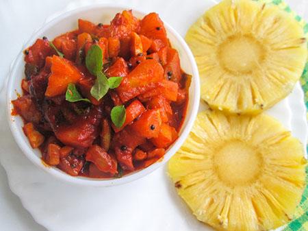 طرز تهیه چاتنی آناناس, ترشی آناناس خوشمزه, ترشی آناناس